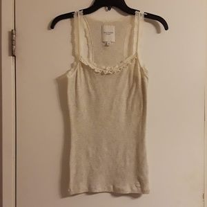 NWOT Gilly Hicks Lace Trim Tank Top Size Large